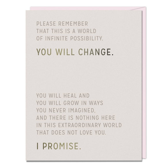 Emily McDowell & Friends - Elizabeth Gilbert You Will Change Card