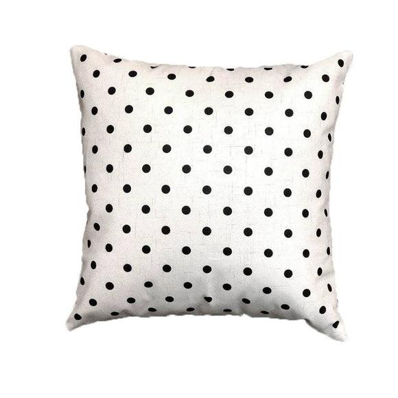Black Mini Dots 18x18 Pillow with Removable Cover