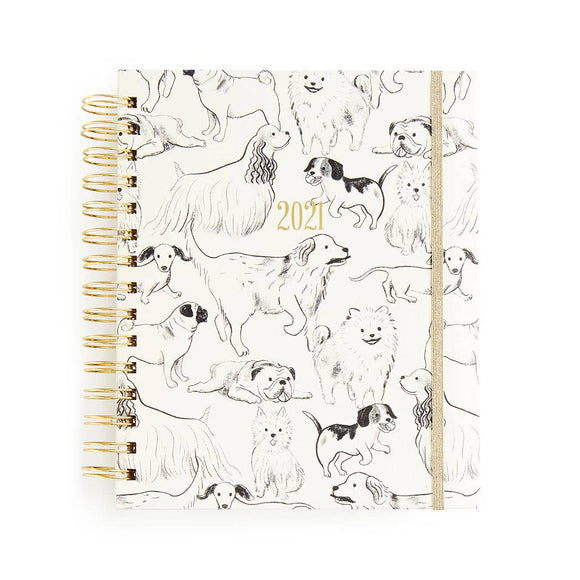 2020-2021 17-month Medium Spiral-Good Boys Weekly Planner