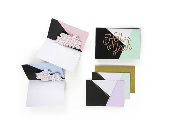 Elegant Profanity Pop Up Notecard Set