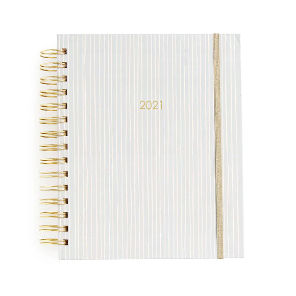 2020-2021 17-month Medium Spiral-Blush Stripe Weekly Planner