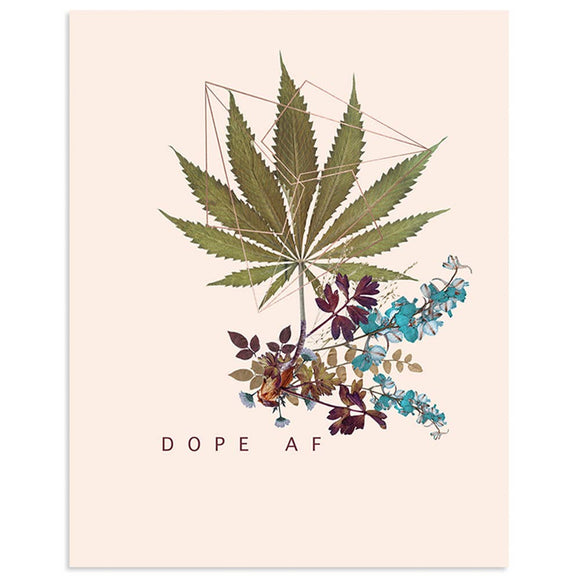 PAPAYA - Copper Art Print- Dope AF