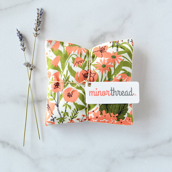 Minor Thread - Lavender Sachets in Mazy's Peach Floral - Set of 2