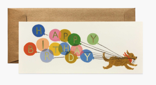 Balloon Birthday No. 10 Card - Rifle Paper Co.