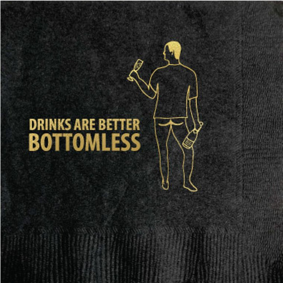 Bottomless Drinks Cocktail Napkin