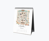 2021 City Map Desk Calendar - Rifle Paper Co.