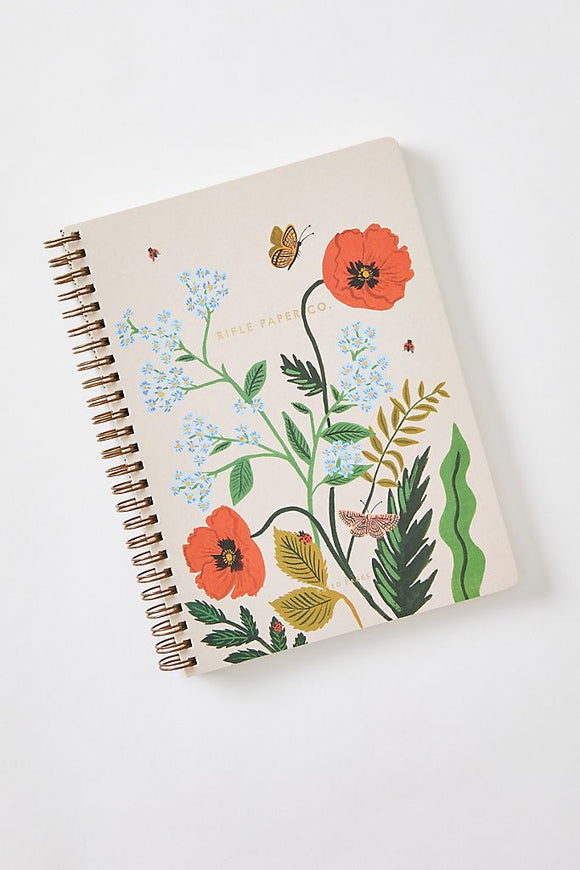 Rifle Paper Co. -  Iceland Poppy Spiral Notebook