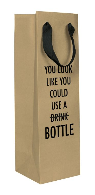 Use a Bottle Wine Gift Bag