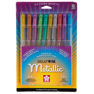 Metallic GellyRoll Gel Ink Pens - 10 pack