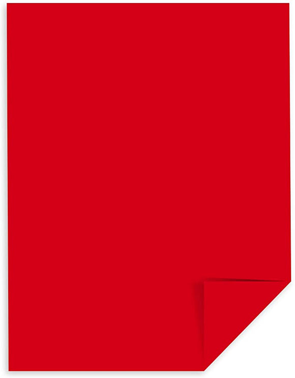 20 pack Vellum Bristol Cardstock, 67 lb, 8.5 x 11 Inches, Re-Entry Red
