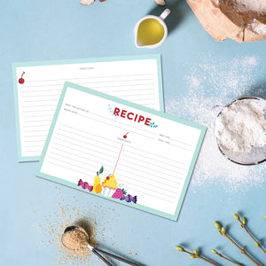 Recipe Cards - 10 Pack Blue Sweets