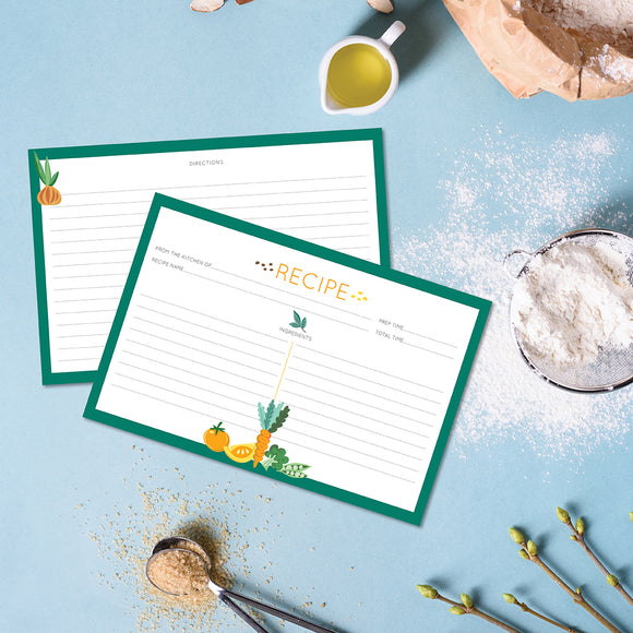 Recipe Cards - 10 Pack Green Veggies