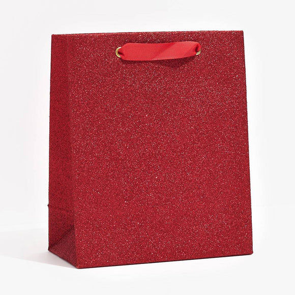 Red Glitter Gift Bags
