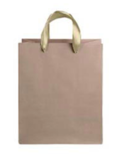 Kraft Medium Gift Bag - Gold Handles