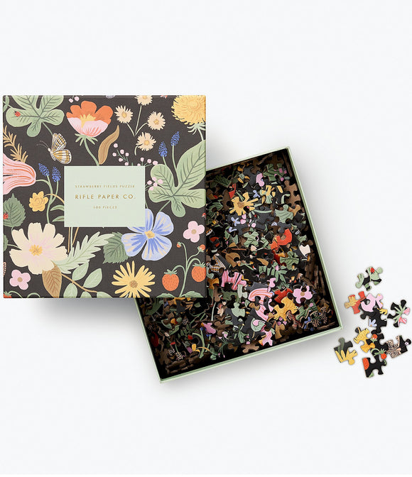 Rifle Paper Co. -  Strawberry Fields Jigsaw Puzzle