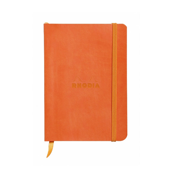 Rhodia Softcover Dot Grid Bullet Journal (Medium) 6 x 8.25 - Tangerine