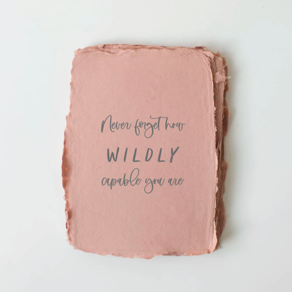 Paper Baristas - Wildly Capable You Card