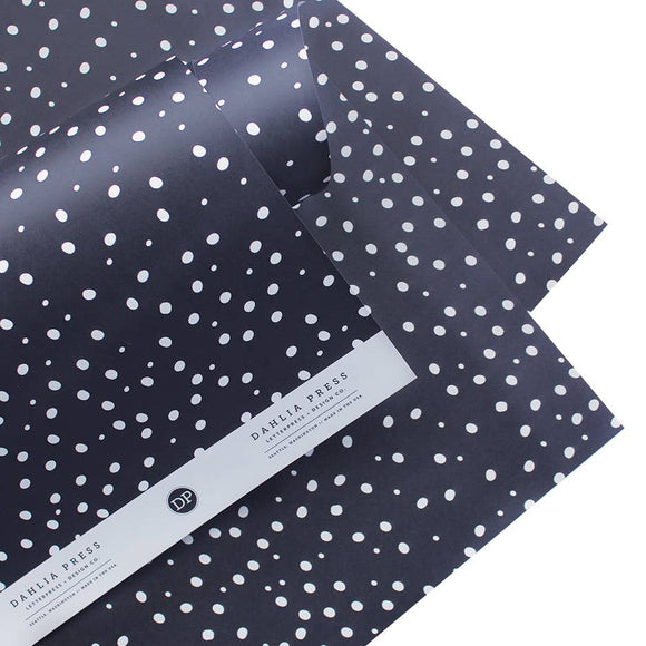 Dahlia Press - Snowy Night - Gift Wrap (Single Sheets)