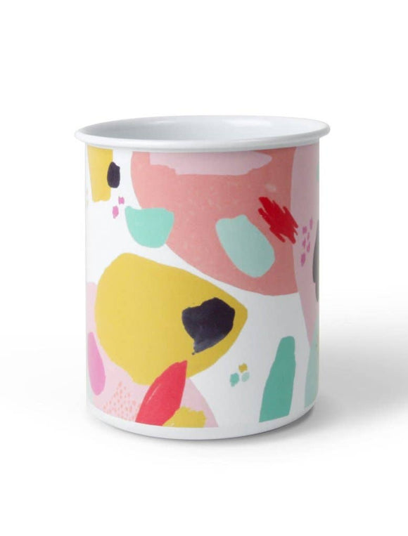 Flourish and Dots Pencil Cup
