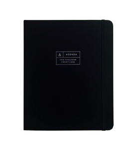 2020-2021 17M Midnight Black Hardcover Spiral Planner