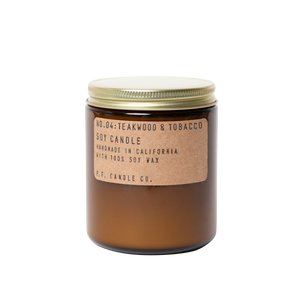 P.F. Candle Co. - Teakwood & Tobacco Soy Candle - Standard 7.2 oz