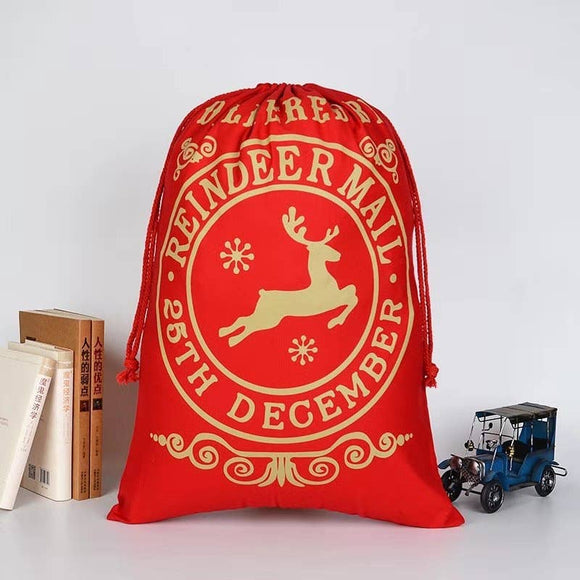 Reindeer Mail Large Santa Sack with Drawstring