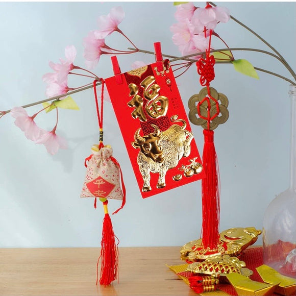 Chinese New Year Red Envelopes - 6 pack
