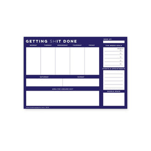 Getting Shit Done Mousepad Notepad