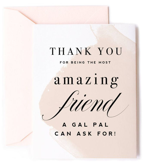 Thank You Amazing Friend, Friendship Card
