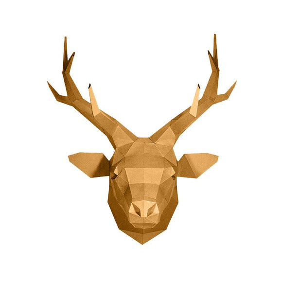 DIY Art Kit  |  Deer Head Wall Art - GOLD Special Edition