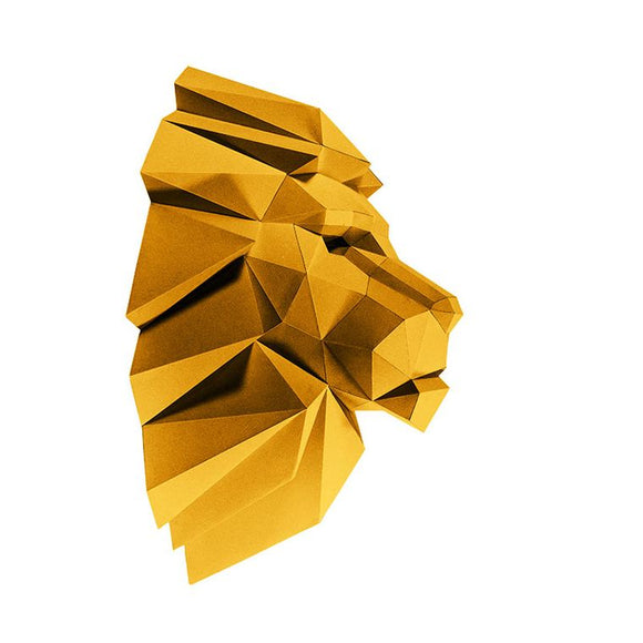DIY Art Kit  |  Lion Head Wall Art