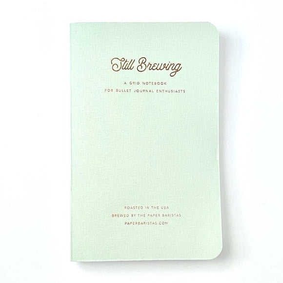 Still Brewing Square Grid Notebook in Mint
