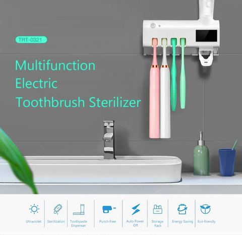 Toothbrush Sterilizer Smart PIR Induction Electric Toothbrush Sterilizer Toothbrush Holder - [www.theislanddealsnow.com]