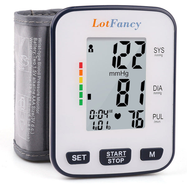 Automatic Wrist Blood Pressure Monitor Heart Rate BP Meter Tester with Memory - [www.theislanddealsnow.com]