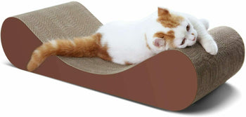 ScratchMe Bone Shaped Cat Scratching Cardboard Post carton Scratcher Lounge - [www.theislanddealsnow.com]