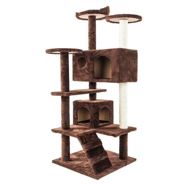 "52""-36 Cat Tree Kitten Tree Tower Condo Furniture Scratch Post Kitty Pet House Play - [www.theislanddealsnow.com]"