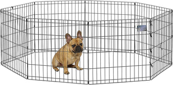24-48 Inch 8 Panels Tall Dog Playpen Large Crate Fence Pet Play Pen Exercise Cage - [www.theislanddealsnow.com]