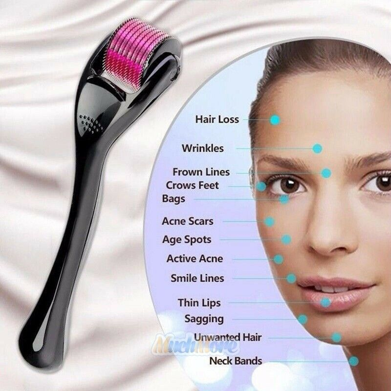 Titanium Derma Roller Micro-Needle ZGTS Beauty Wrinkles Scars Acne 192 Needles - [www.theislanddealsnow.com]