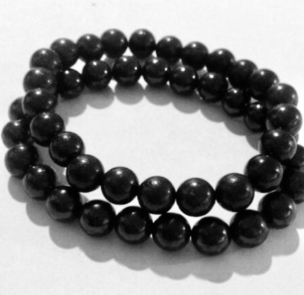 8mm Shungite Elite Bracelet Bead Stretchy Bracelet Radiation Absorber Karelia - [www.theislanddealsnow.com]
