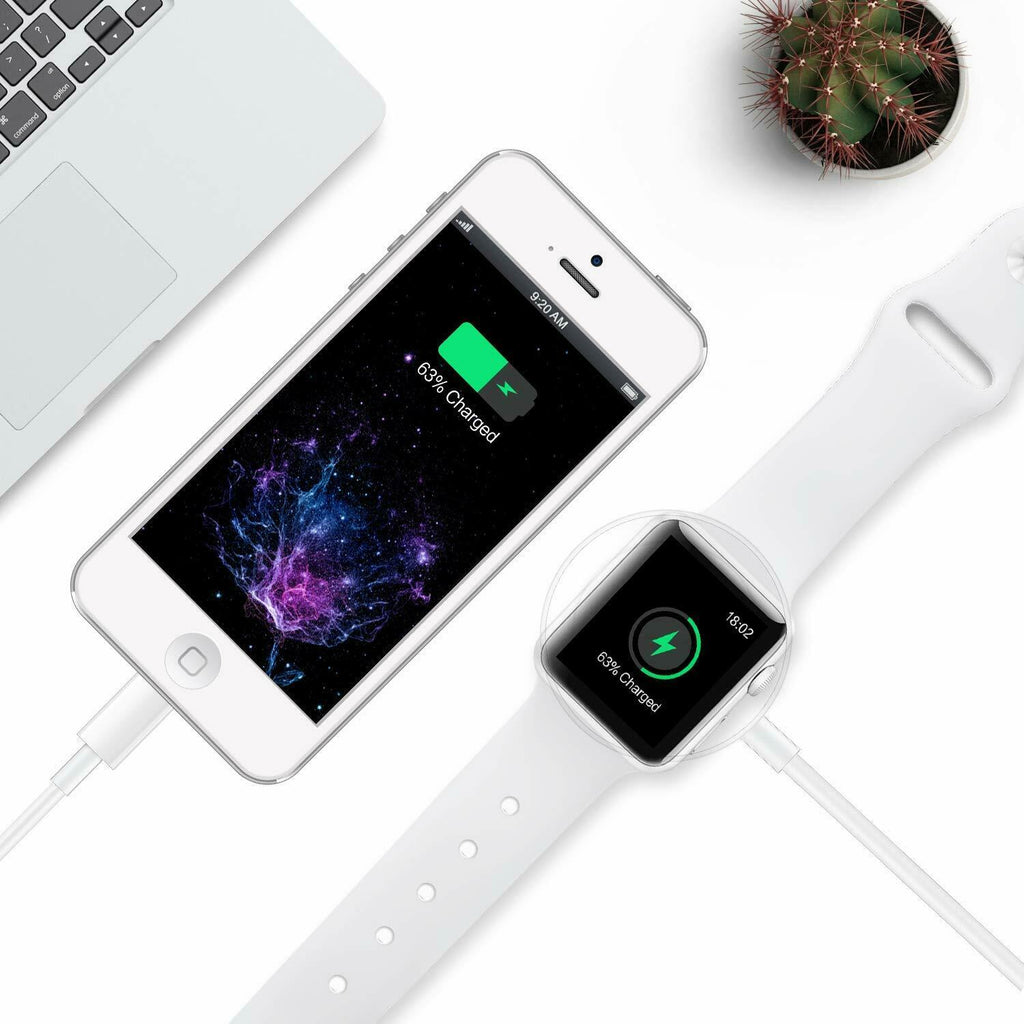 Magnetic Charger 2in1 USB Cable For iPhone 11/XR/XS Apple iWatch 5/4/3/2/1 - [www.theislanddealsnow.com]