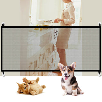 Fence Net Door Mesh For Pets Dog Puppy Safety Gate Portable Folding Safety Guard - [www.theislanddealsnow.com]