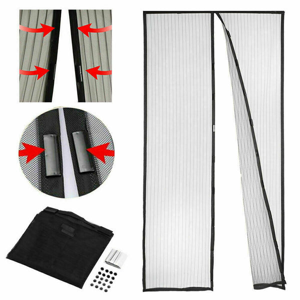 Hands-Free Magnetic Door Net Mosquito Screen Mesh Anti Bugs Fly Insect Curtain - [www.theislanddealsnow.com]