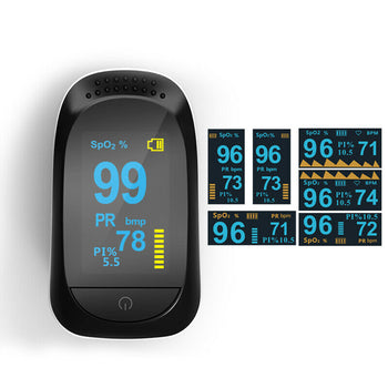 Fingertip Pulse Oximeter Blood Oxygen SpO2 Monitor PR PI heart rate w/ FDA 510K - [www.theislanddealsnow.com]