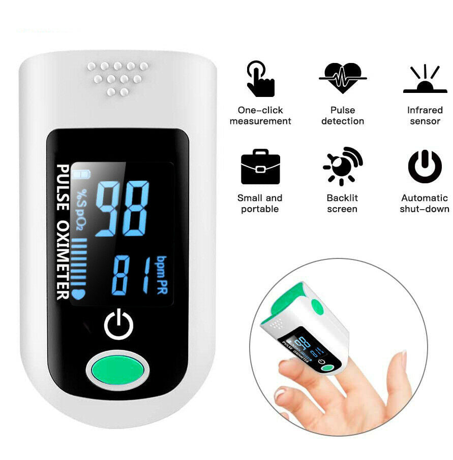 Finger Pulse Oximeter Blood Oxygen SpO2 Monitor PR Heart Rate Patient Monitor US - [www.theislanddealsnow.com]