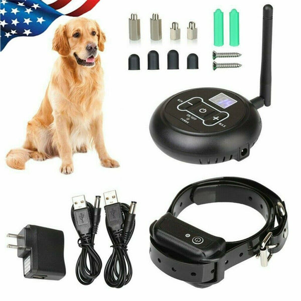 Wireless Electric Dog Fence Pet Containment System Shock Collars 1,2,3 Dogs - [www.theislanddealsnow.com]