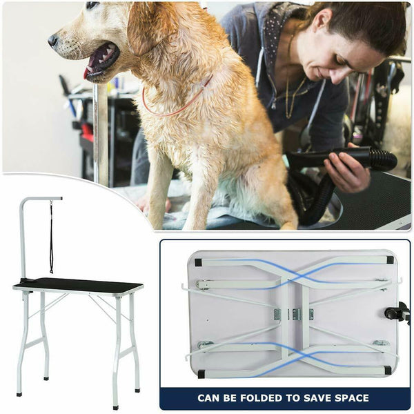 "Dog Grooming Table BestPet W/Arm/Noose GT32 Large Adjustable 32"" - [www.theislanddealsnow.com]"