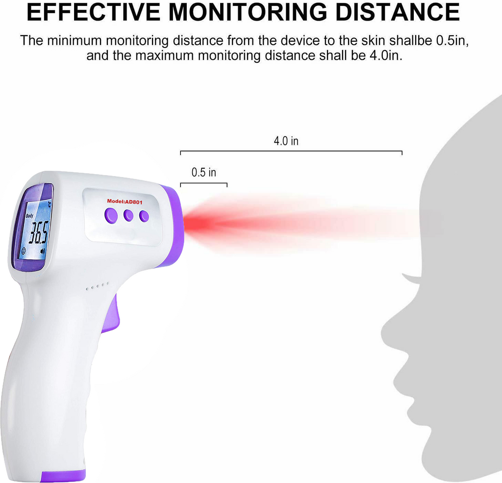 NON CONTACT Body Forehead IR Infrared Laser Digital Thermometer LED - [www.theislanddealsnow.com]