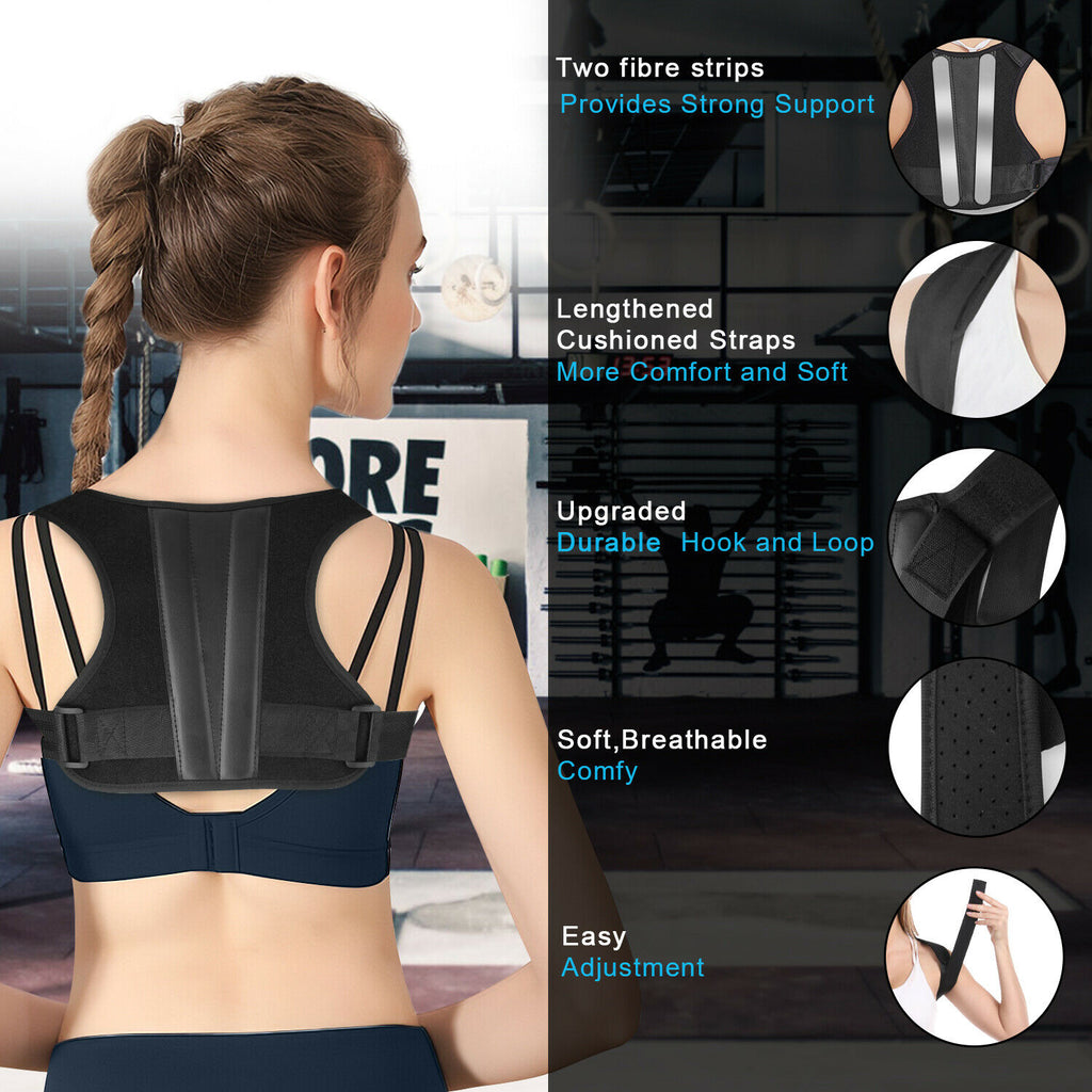 Posture Corrector Posture Brace Shoulder Support Adjustable For Men Women - [www.theislanddealsnow.com]