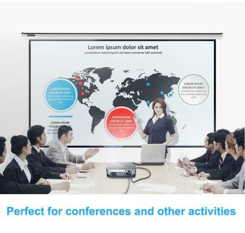 "100"" 16:9 Manual Pull Down Projector Projection Screen Home Theater Movie - [www.theislanddealsnow.com]"