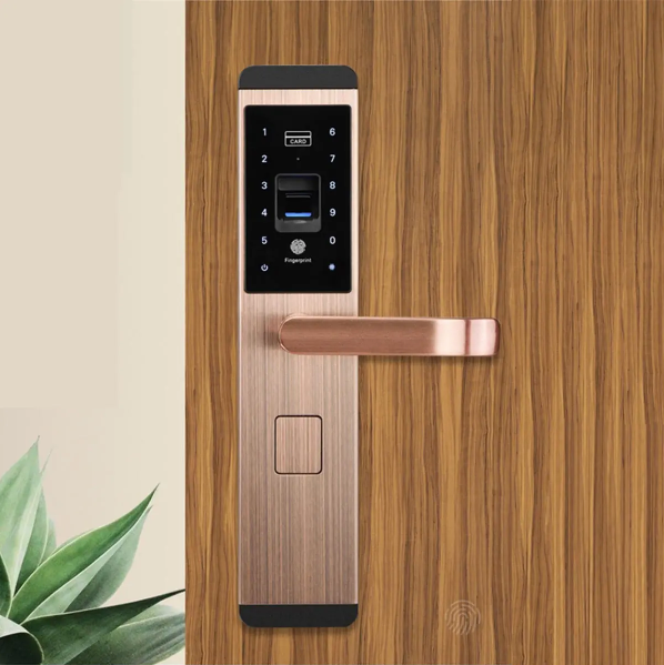 Fingerprint Smart Door Lock Digital Password Touch Keyless Deadbolt Lock 5 Way - [www.theislanddealsnow.com]